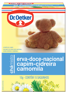 Chá Misto Erva-Doce Nacional, Capim-Cidreira & Camomila 15 sachês - Dr. Oetker