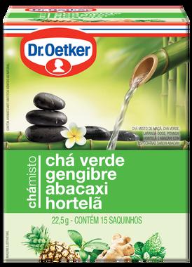 Chá Misto Verde, Gengibre, Abacaxi & Hortelã 15 sachês - Dr. Oetker