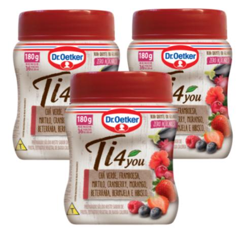 Kit c/ 3un Chá Ti4You Frutas Vermelhas - Dr. Oetker