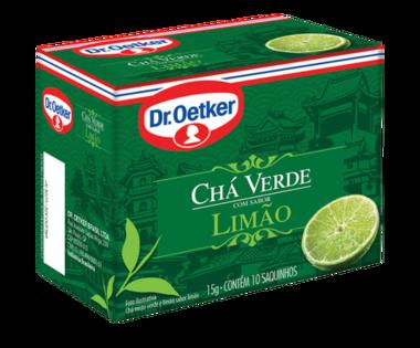 Chá Verde com Limão 10 sachês - Dr. Oetker