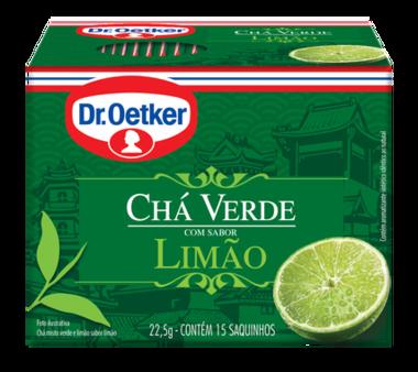 Chá Verde com Limão 15 sachês - Dr. Oetker