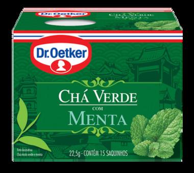 Chá Verde com Menta 15 sachês - Dr. Oetker