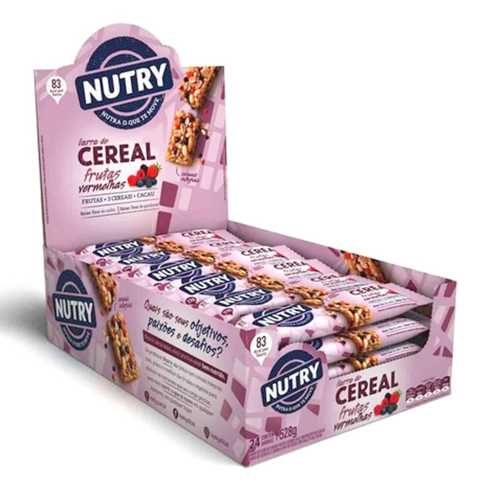 Barra de Cereal Frutas Vermelhas com 24 unidades - Nutry