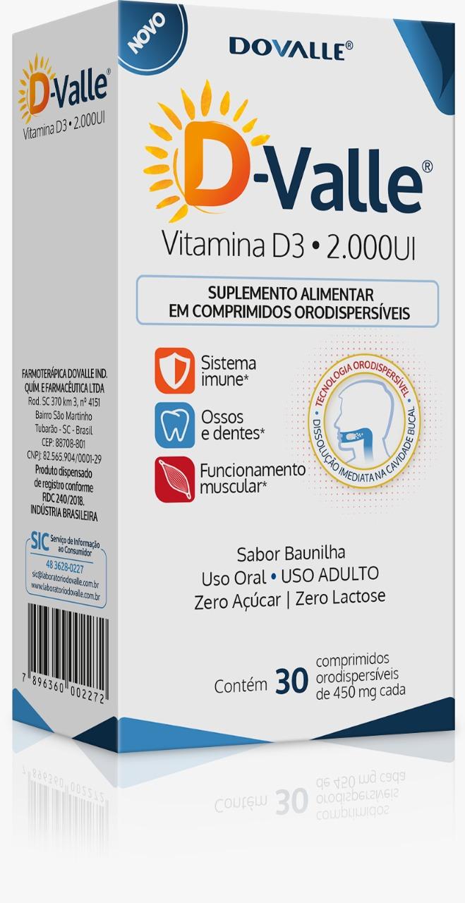 D-Valle Vitamina D3 2.000UI 30 Comprimidos