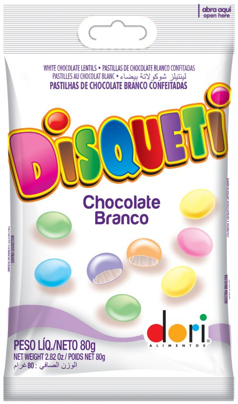 Display c/ 12 Disqueti Chocolate Branco 80g