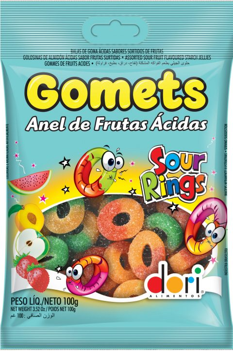 Goma Anel Ácido Gomets 100g