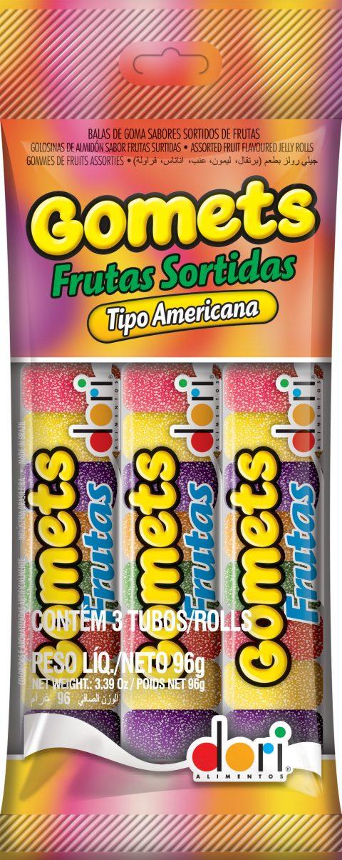 Goma Tubo  Frutas Sortidas 3x32g