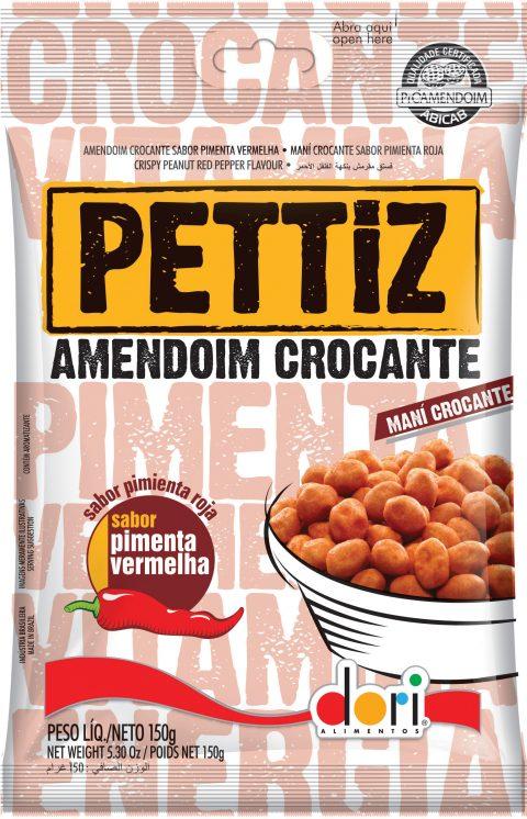 Kit c/ 15un Amendoim Pettiz Crocante Pimenta 150g - Dori