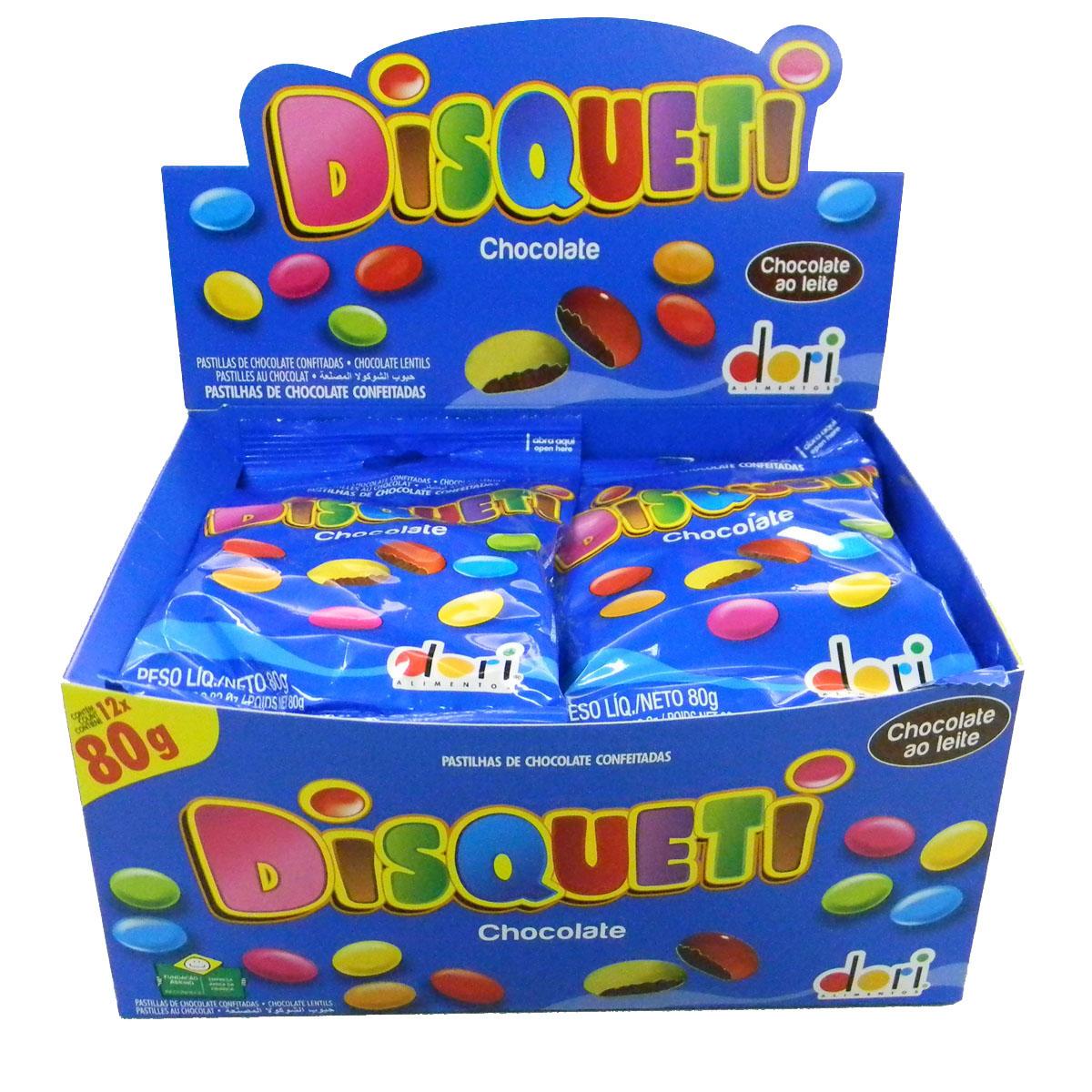 Kit c/ 02 Display Disqueti Chocolate  80g