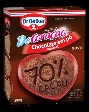 Kit c/ 09un Chocolate em Pó  -70% cacau  200g