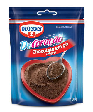 Kit c/ 09un Chocolate em Pó  sachê 100g