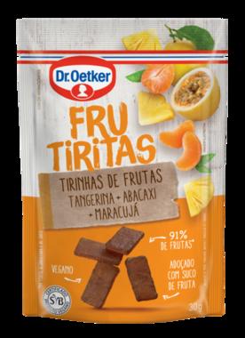 Kit c/ 12un Snacks de Frutas Vegano Frutiritas 30g - 3 Sabores
