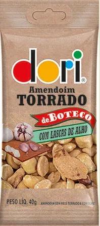 Kit c/ 15un Amendoim de Boteco Lascas de Alho 40g - Dori