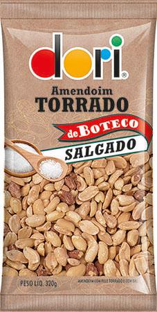 Kit c/ 6un Amendoim de Boteco Salgado 320g - Dori