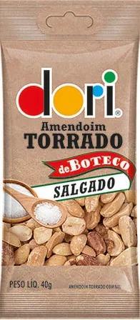 Kit c/ 15un Amendoim de Boteco Salgado 40g  Dori