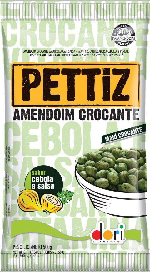 Kit c/ 15un Amendoim Pettiz Crocante Cebola e Salsa 50g - Dori