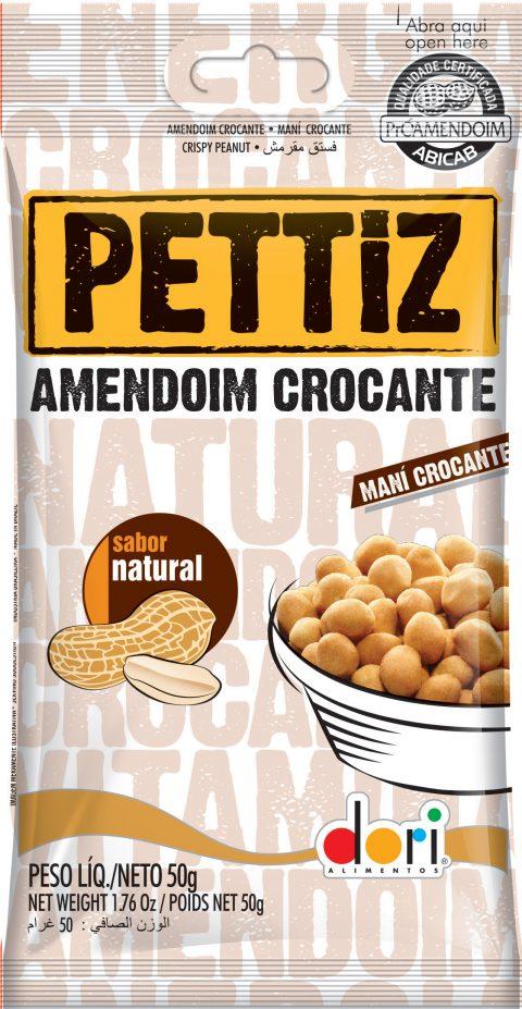 Kit c/ 15un Amendoim Pettiz Crocante Natural 50g - Dori
