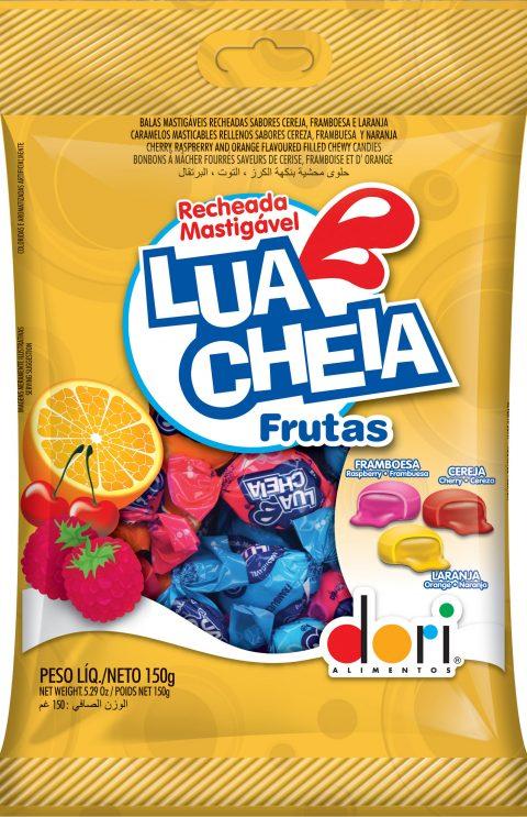 kit c/ 15un Bala Lua Cheia Frutas 150g
