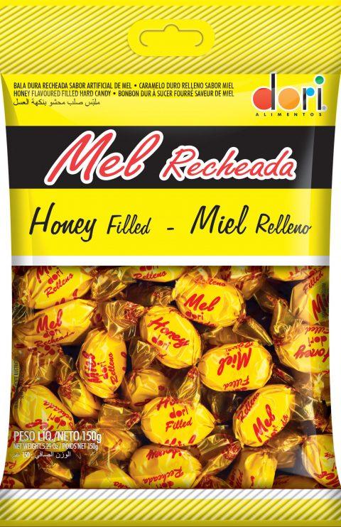 kit c/ 15un  Bala Mel Recheada 150g