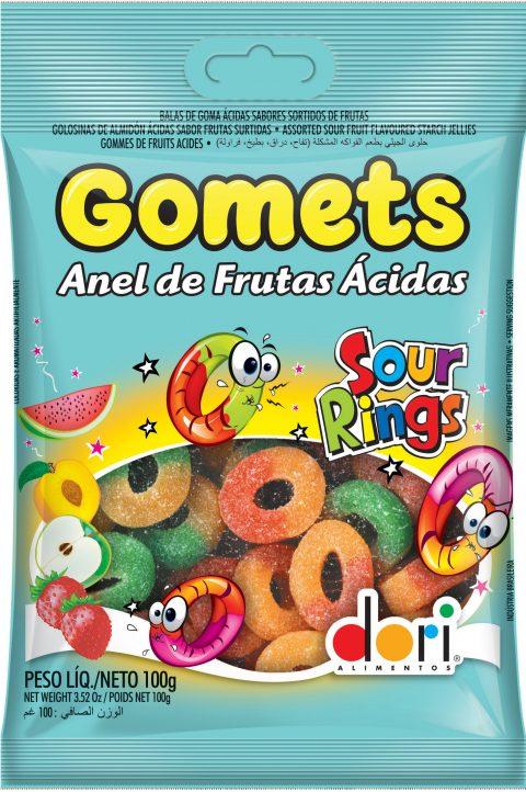 Kit c/ 15un Goma Anel Ácido Gomets 100g