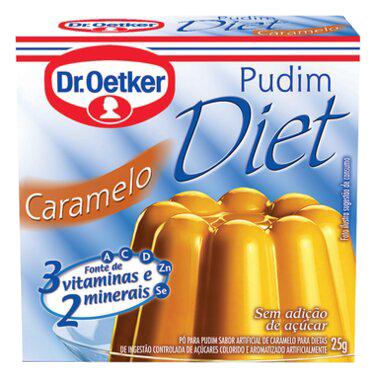 Kit c/ 18un Pudim Diet de Caramelo 25g