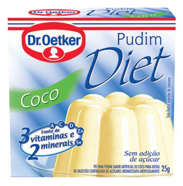 Kit c/ 18un Pudim Diet de Coco 25g