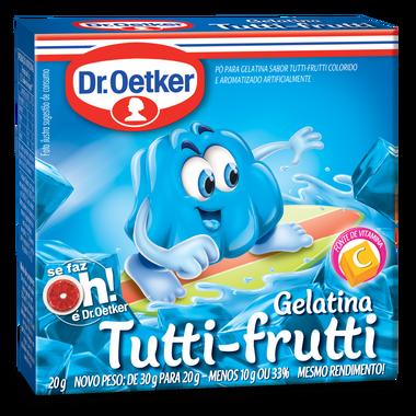 Kit c/ 24un Gelatina Tutti-Frutti 20g