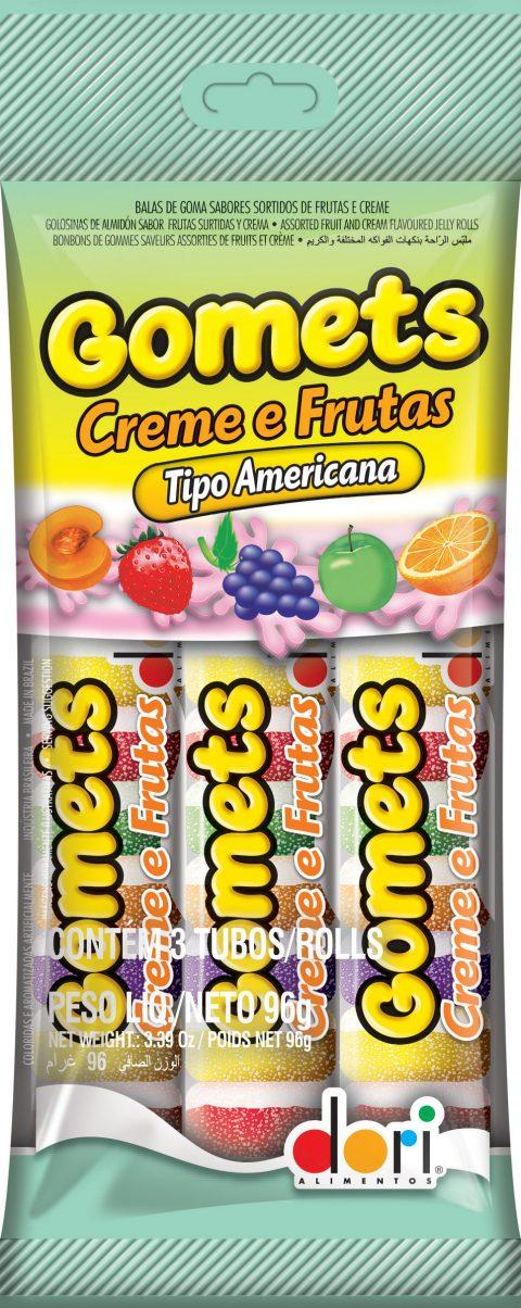 Kit c/ 30un  Gomets Creme e Frutas 3 Tubos - 32g