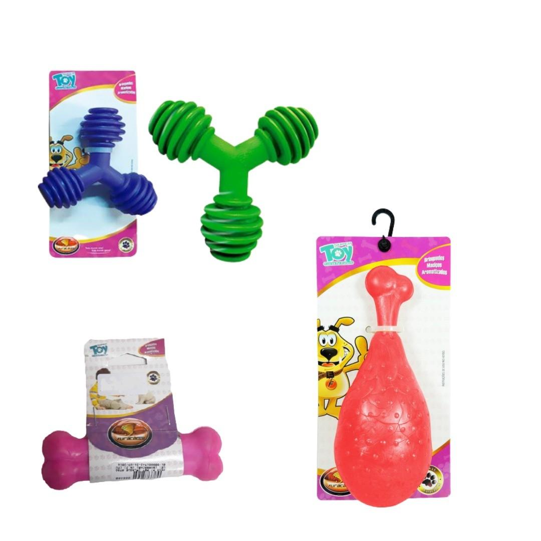Kit com 5 Brinquedos Pet Grande Sortido - Furacão Pet