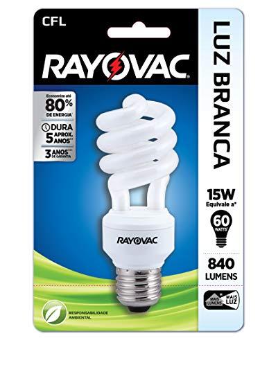 Lâmpada CFL Espiral 15W 220V - Rayovac