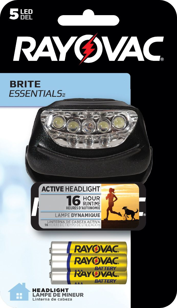 Lanterna Mãos Livres 5 LEDs com 3 Pilhas AAA - Rayovac