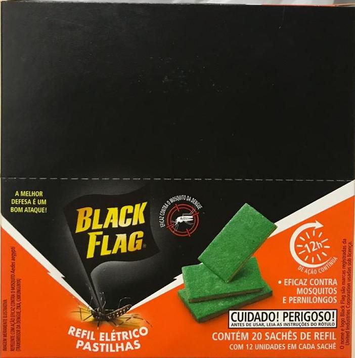Pastilhas para Refil 20 Sachês com 12 Pastilhas cada - Black Flag