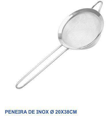 Peneira de Inox 20x38 Cm
