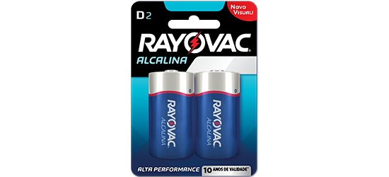 Pilha Alcalina D - Rayovac