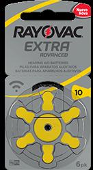 Pilha Auditiva Extra Advanced Tamanho 10 - Rayovac