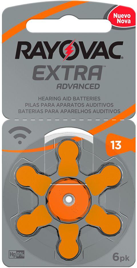Pilha Auditiva Extra Advanced Tamanho 13 - Rayovac