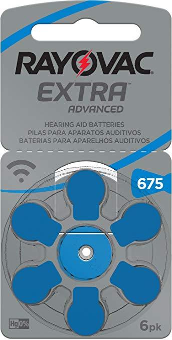 Pilha Auditiva Extra Advanced Tamanho 675 - Rayovac