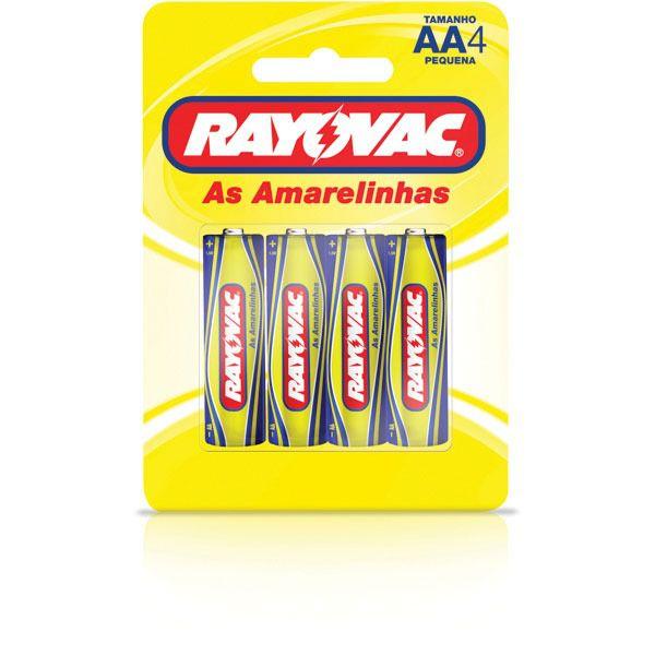 Pilha de Zinco AA com 4 - Rayovac