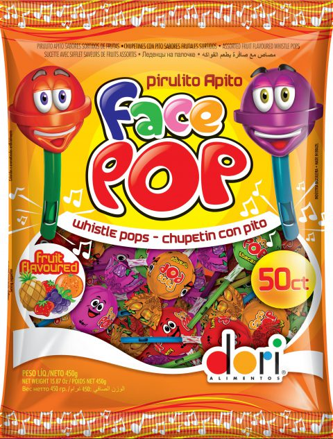 Pirulito Facepop Apito 450g