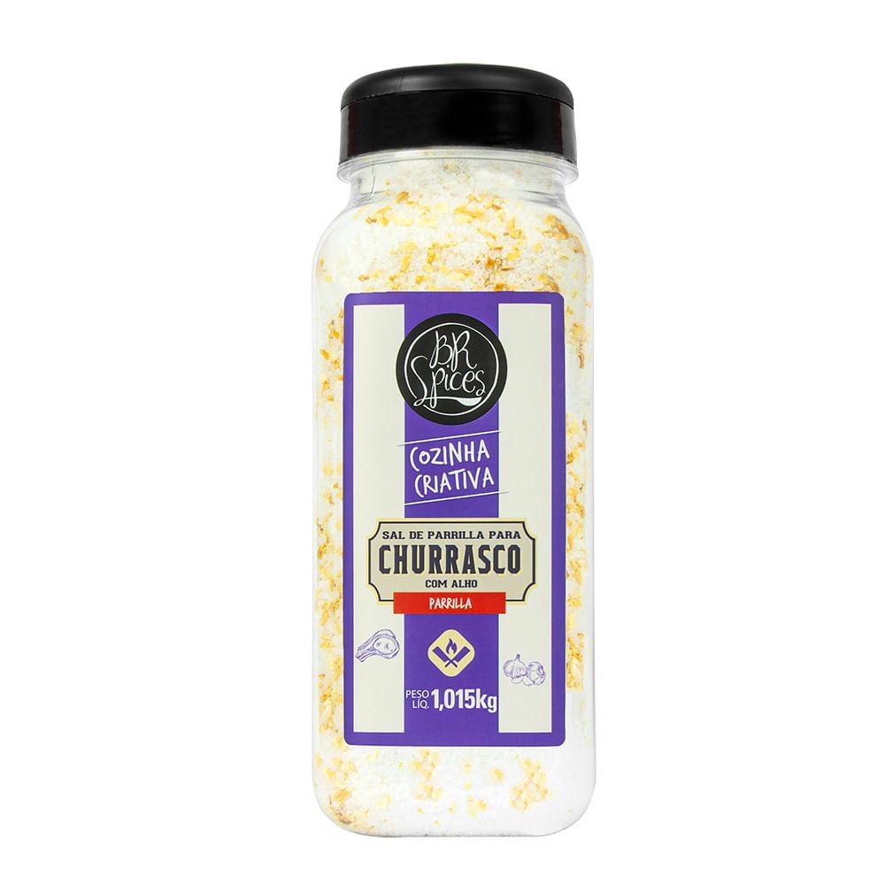 Sal de Parrilla com Alho BR Spices 1,015kg - BR Spices
