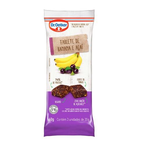 Tablete Vegano de Banana e Açaí 60g