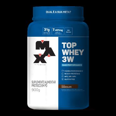 Top Whey 3W Chocolate 900g - Max Titanium