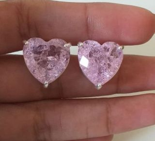 Brinco de Pedra Coração Folheado a Prata