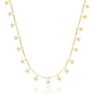 Choker De Estrelas Folheado A Ouro 18K