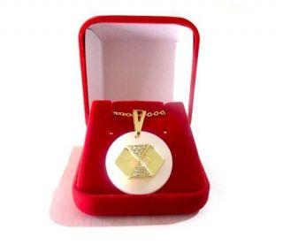 Colar Administração Adm Com Caixa Veludo Folheado Ouro 18k
