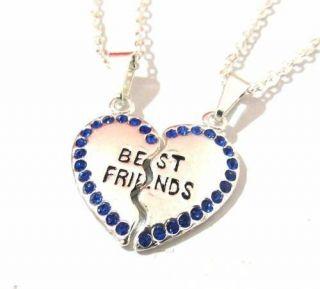 Colar Best Friends Amizade Melhores Amigas Folhaedo A Prata