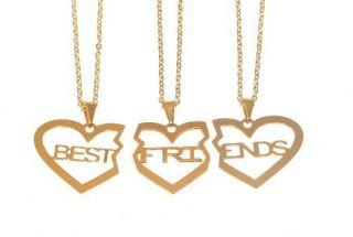 Colar Best Friends Melhores Amigas Amizade Folheado 3 - B17