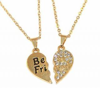 Colar Best Friends Sempre Amigas Folheado Promoção