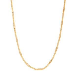 Colar Corrente detalhes em Tubos folheado em ouro 18k