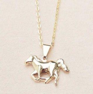 Colar Gargantilha Cavalo Country Cavalgada Folheado Ouro 18k
